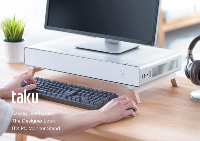 Корпус-подставка Cryorig Taku приютит монитор и клавиатуру