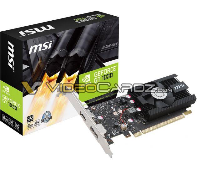 MSI готовит три видеокарты GeForce GT 1030, среди которых будет и модель с пассивным охлаждением