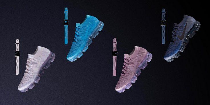 Nike представила новые ремешки для Apple Watch, выход которых приурочен к анонсу новой коллекции кроссовок Air VaporMax Flyknit
