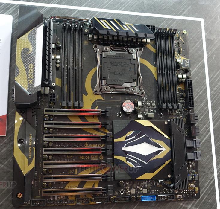 <p>Плата типоразмера E-ATX располагает восемью слотами для&nbsp;модулей памяти DDR4 DIMM и&nbsp;семью слотами PCIe 3.0×16 (x16/x16/x8/x4/x4/x4/x4)» /></div> <p>Питание на&nbsp;плату подается по&nbsp;24-контактному разъему ATX, двум 8-контактным разъемам EPS и&nbsp;6-контактному разъему PCIe. Схема питания CPU выполнена по&nbsp;14-фазной схеме. </p>  <p>Что&nbsp;касается подключения накопителей, плата оборудована двумя слотами M.2 32 Гбит/с, двумя портами U.2 32 Гбит/с&nbsp;и&nbsp;четырьмя портами SATA 6 Гбит/с. Благодаря контроллеру Intel X550AT, в&nbsp;оснащение Biostar Racing X299GT9 включен порт 10 GbE. Второй сетевой порт&nbsp;— Gigabit Ethernet&nbsp;— построен на&nbsp;контроллере Intel i219-V. В&nbsp;оснащении платы можно выделить высококачественную звуковую подсистему, два порта USB 3.1 (с&nbsp;разъемами Type-A и&nbsp;Type-C) и&nbsp;шесть портов USB 3.0. Не&nbsp;обошлось и&nbsp;без&nbsp;светодиодной подсветки. </p>  <p>Источник: Techpowerup</p><p>  Теги:  Biostar   <br /><br />Комментировать  <br /><br /></p>             <p class=