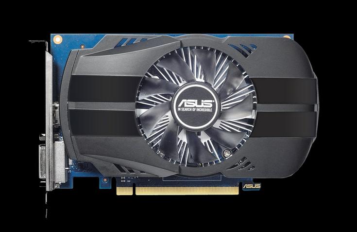 Asus показала три карты GeForce GT 1030
