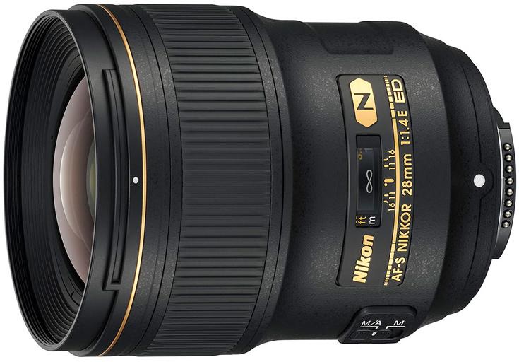 Объектив Nikon AF-S Nikkor 28mm f/1.4E ED