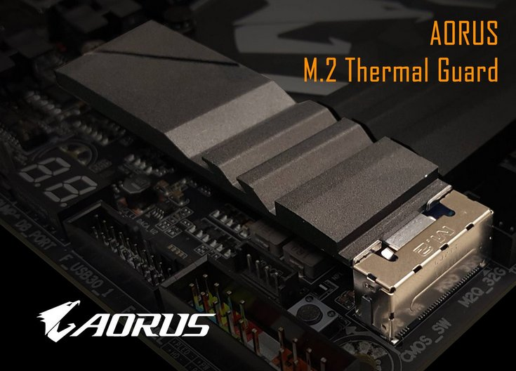 Gigabyte готовит Aorus M.2 Thermal Guard — радиатор для SSD формата M.2
