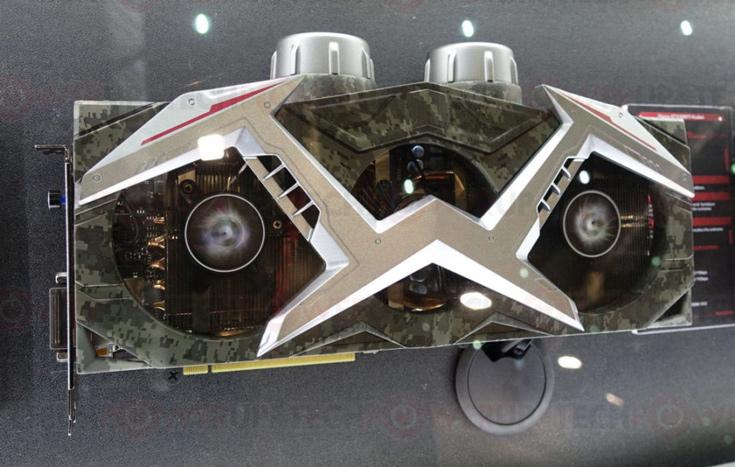 Система охлаждения 3D-карты Colorful iGame GTX 1080 Ti Customization включает пять вентиляторов