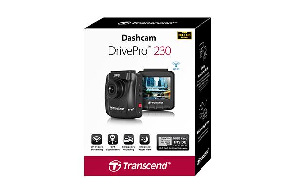 Представлен видеорегистратор Transcend DrivePro 230