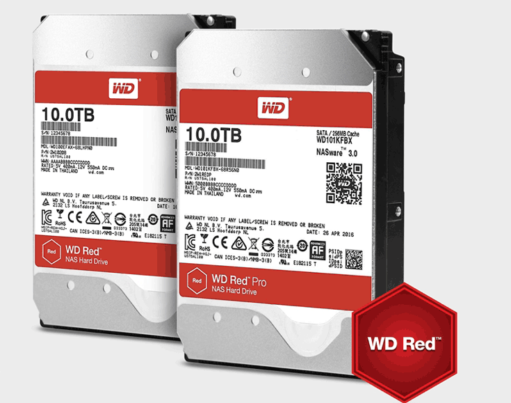 Накопители WD Red и WD Red Pro предназначены для NAS