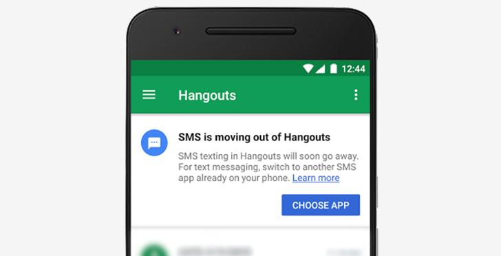 Google лишила приложение Hangouts поддержки SMS