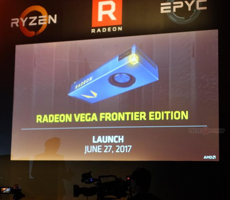 Названы сроки выхода 3D-карт AMD Radeon RX Vega и Radeon Vega Frontier Edition