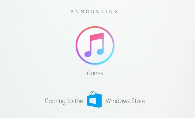 iTunes появится в магазине приложений Windows Store