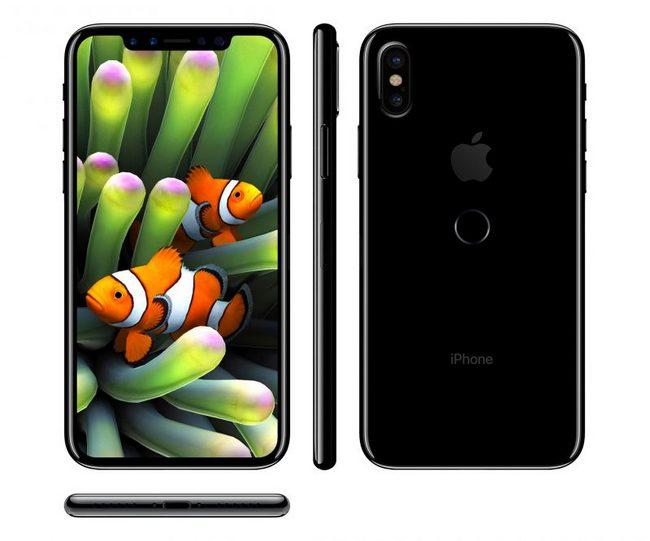 CLSA настаивает на том, что дактилоскопический датчик iPhone 8 разместили на задней панели смартфона