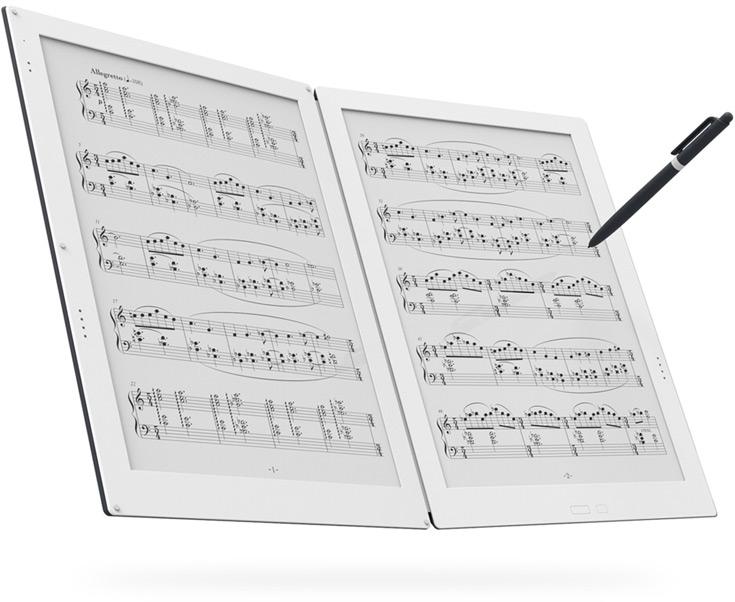E Ink и Terrada Music Score представили первую в мире электронную папку для нот с двумя электрофоретическими экранами