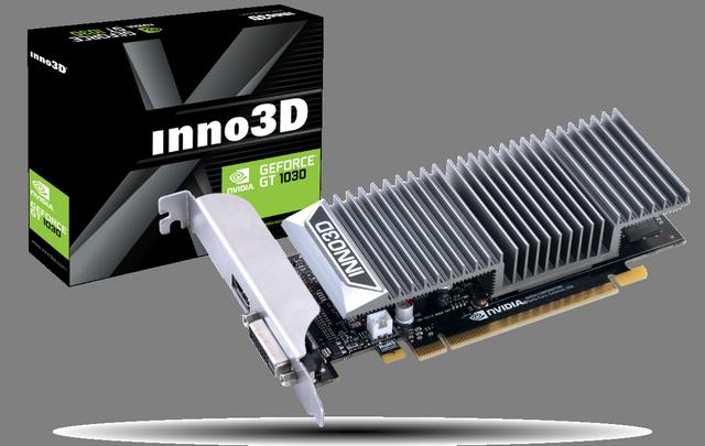 Видеокарта Gainward GeForce GT 1030 SilentFX занимает два слота расширения