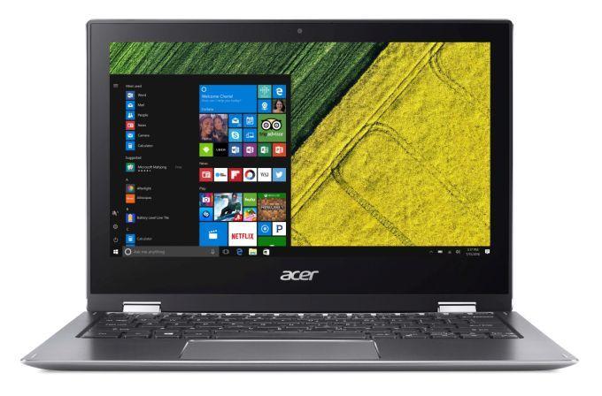 Acer Spin 1 — компактный ноутбук с экраном IPS, процессорами Intel Apollo Lake и металлическим корпусом