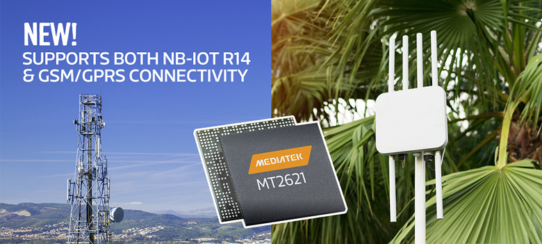Однокристальная система MediaTek MT2621 поддерживает NB-IoT Release 14 и GSM/GPRS