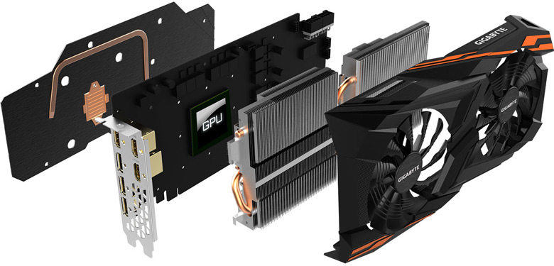 Ассортимент Gigabyte пополнили 3D-карты серии Radeon RX Vega Gaming OC WindForce 2X