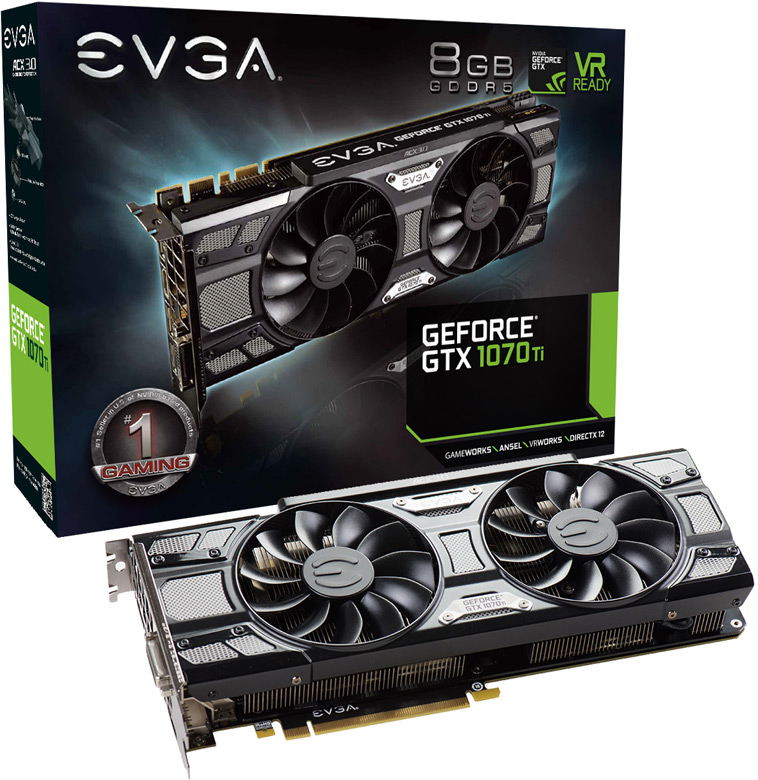 EVGA GeForce GTX 1070 Ti SC Black Edition (08G-P4-5671-KR)
