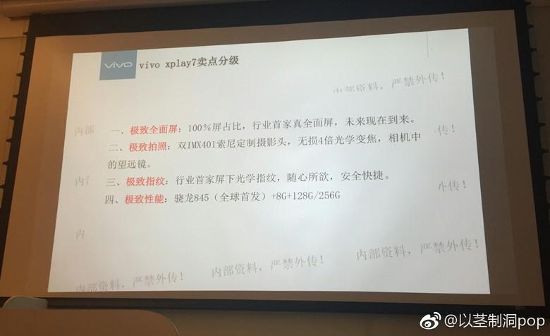 Смартфон Vivo Xplay 7 может получить настоящий безрамочный экран