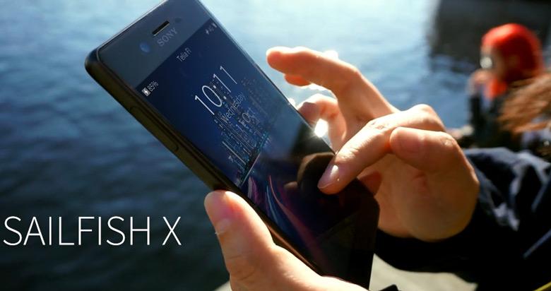 Sailfish OS для смартфонов Sony Xperia X
