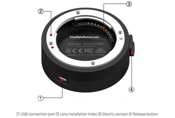Док Samyang Lens Station будет подключаться к компьютеру по интерфейсу USB