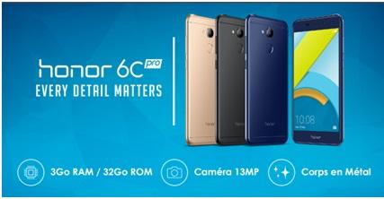 ВоФранции презентовали 5,2-дюймовый смартфон Huawei Honor 6C Pro