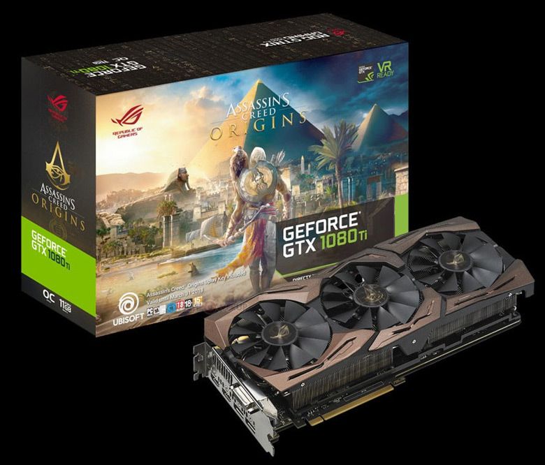 3D-карта Asus ROG Strix GeForce GTX 1080 Ti Assassin's Creed Origins Edition