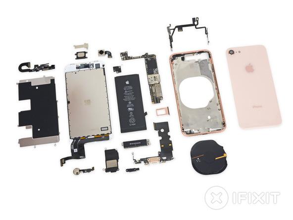iPhone 8 заработал у iFixit шесть баллов