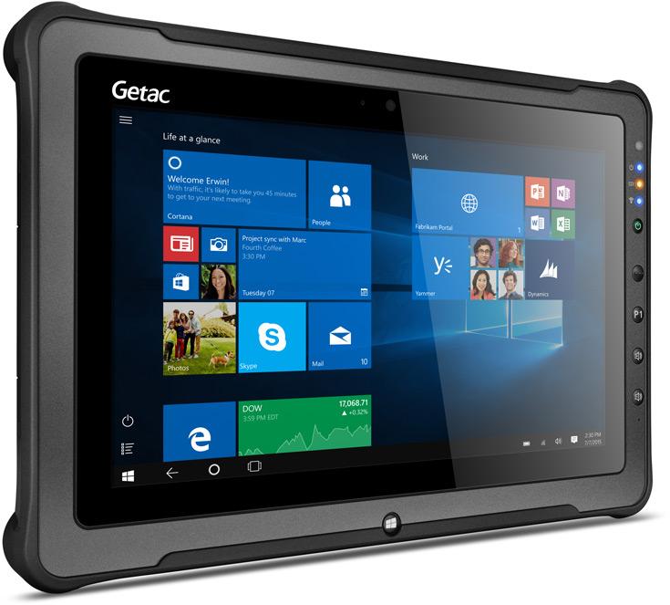 Габариты планшета Getac F110 равны 314 x 207 x 24,5 мм, масса — 1,39 кг