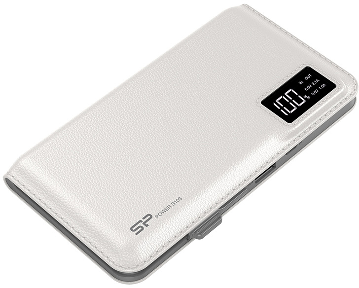 Аккумулятор Silicon Power S103 предложен в белом и черном вариантах