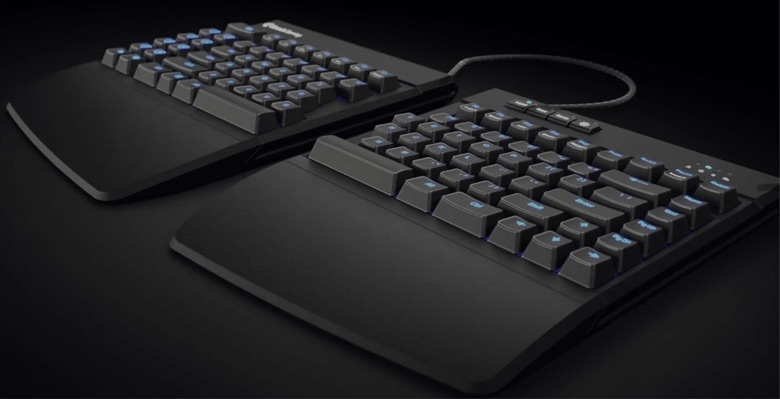 Клавиатура Kinesis Freestyle Edge выполнена в виде двух блоков