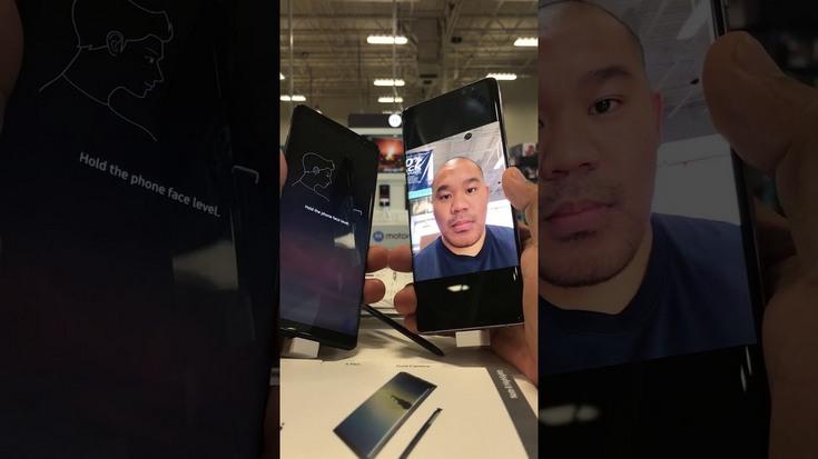 Samsung Galaxy Note8 лучше не блокировать посредством технологии распознавания лиц