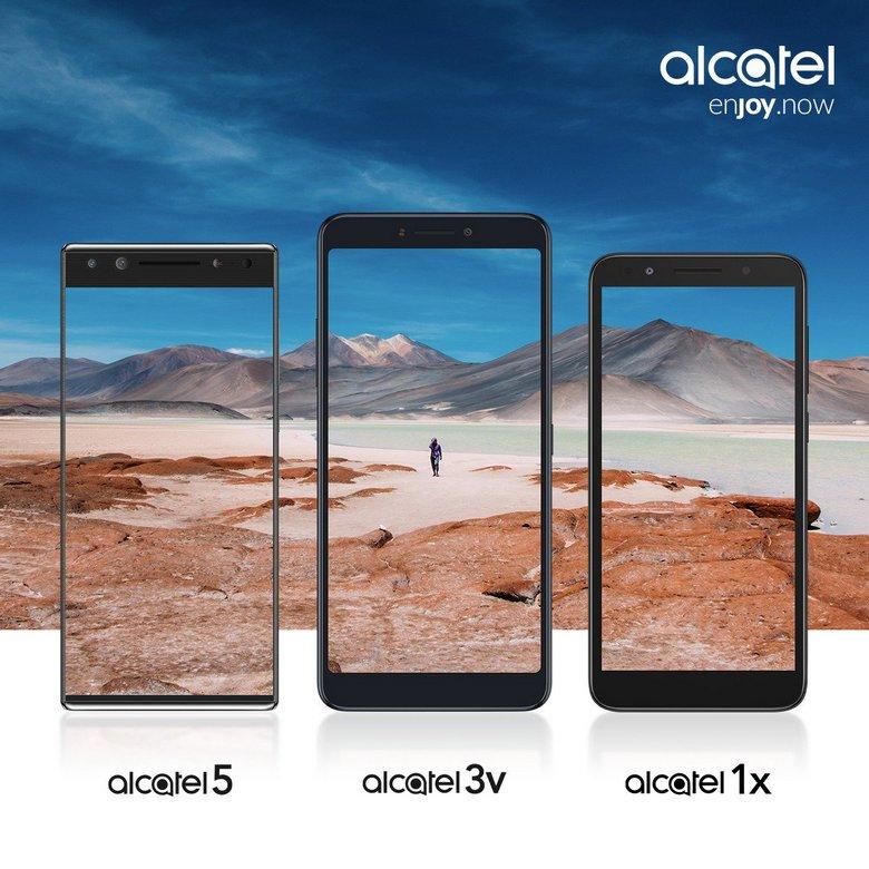 НаMWC 2018 презентуют Alcatel 5, Alcatel 3v иAlcatel 1x