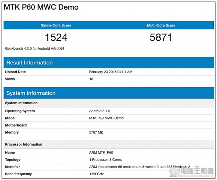 Показатели Helio P60 сопоставимы с показателями Qualcomm Snapdragon 660