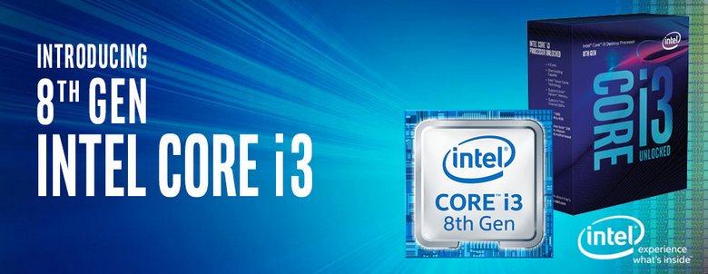 Процессор Core i3-8130U работает на частотах 2,2-3,4 ГГц