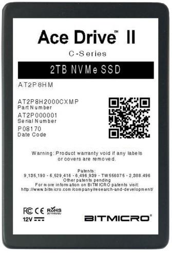 Накопители Bitmicro E-Disk Altima II и Ace Drive II выпускаются в вариантах с интерфейсом PCIe 3.0 x4 и SATA 6 Гбит/с