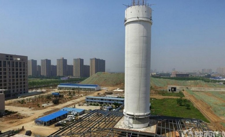 В Китае возвели гигантский очиститель воздуха