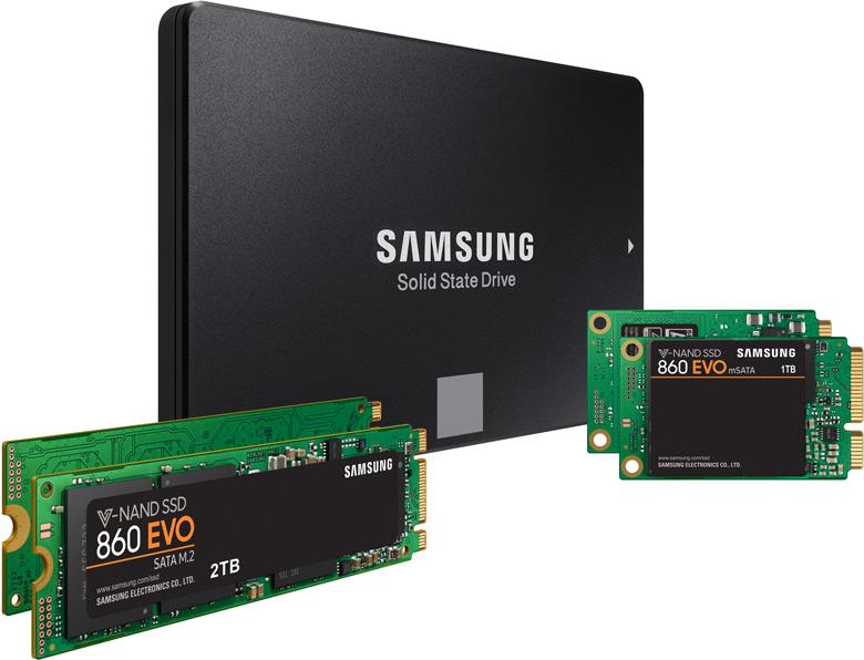 Самсунг представила SSD-накопители 860 Pro и860 Evo