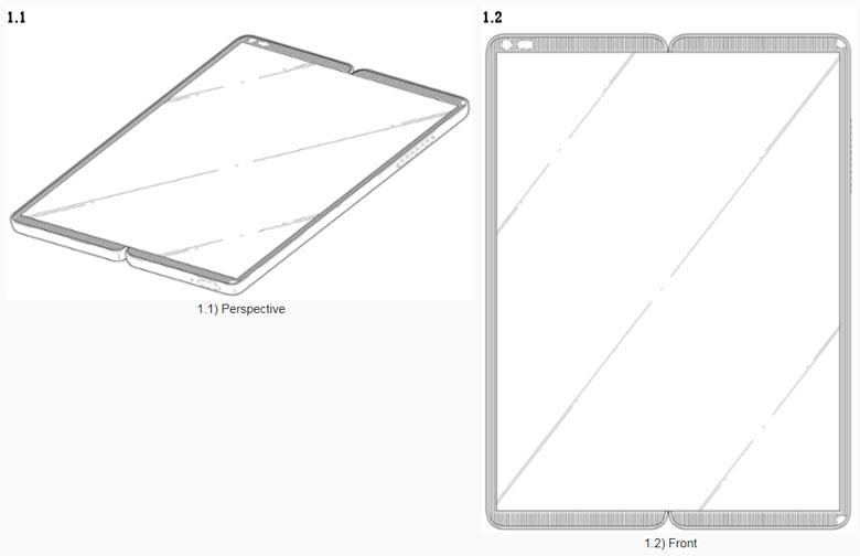 LG патентує складаний смартфон з гнучким екраном