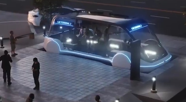 Илон Маск продемонстрировал 1-ый подземный электробус