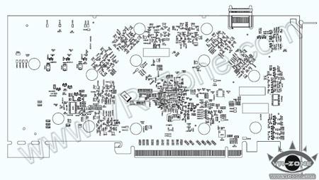 Печатная плата предусматривает расположение восьми чипов памяти GDDR3...