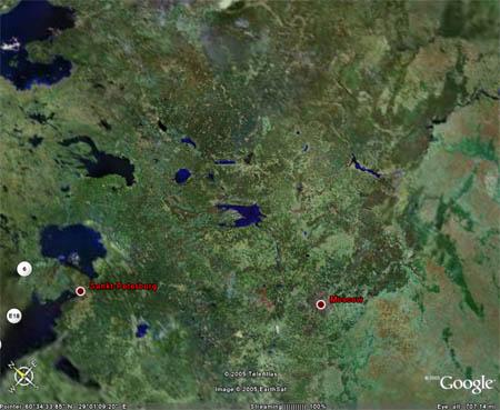 Фрагмент из Google Earth