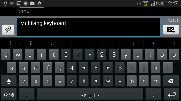 Multiling keyboard android