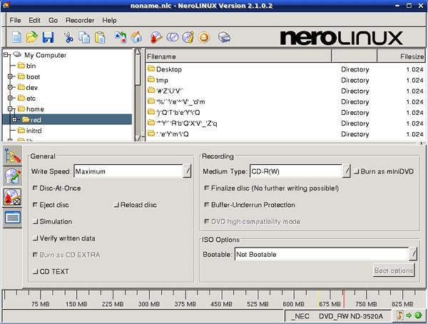 Для записи оптических дисков в Linux/b.