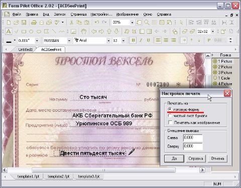 Обзор form pilot office программы для заполнения бумажных форм Печать на готовую форму