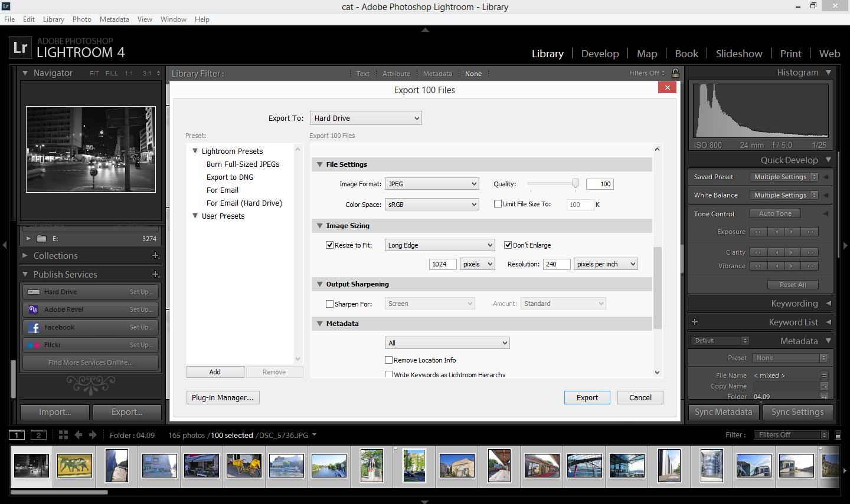 как экспортировать фото из лайтрума на макбуке комплексные