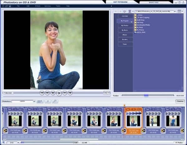 Програмку для сотворения фото слайд шоу на диск