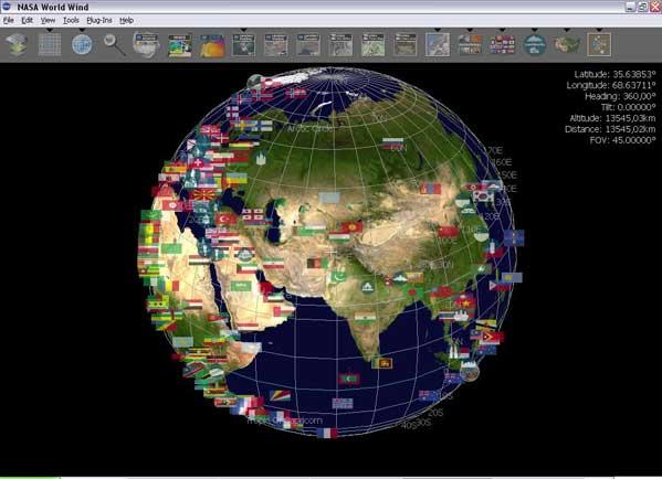 future for nasa world map - photo #8