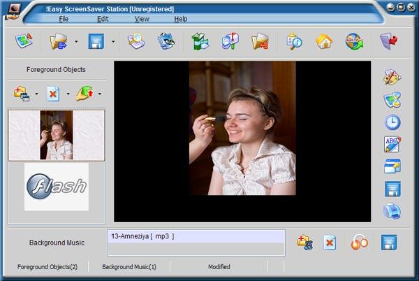 Рабочее окно Easy ScreenSaver Station