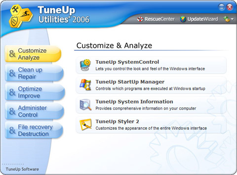 Download tuneup startup manager