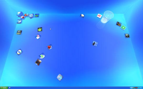 Рабочий стол Windows XP после установки Real Desktop Light