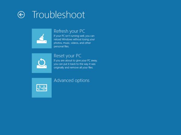 Загрузочное меню Windows 8